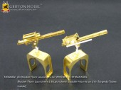 N35A002 1/35 2in Rocket Flare Launchers for WWII British MTBs/MGBs