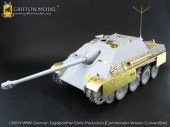 L35019 1/35 WW II German Jagdpanther Early Production(Command Version Convertible)