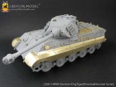 L35A006 1/35 WW II German KingTiger Tank (Porsche Turret)'s Wire Mesh/Anti-Mine Mesh/Additional Armor Plate