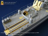 N72A001 1/72 Mine Rails/Depth Charges Rack/Extra Torpedo Cradles for WW II German Schnellboot S-100 Class